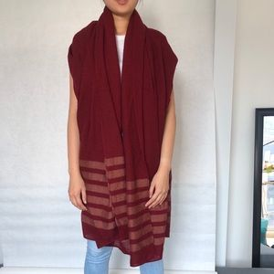 Zara Accessories maroon red shawl wrap